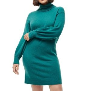 J. Crew Supersoft Turtleneck Shift Sweater Dress M